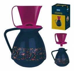 R$49,90 - Conjunto Amábile Bule 650ml Com Suporte Coador Café Mor