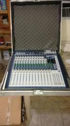 Mesa de som soundcraft signatária 16 canais mixer usb bivold com case