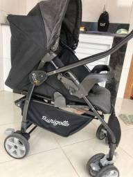 Carrinho de bebê burigotto com bebê conforto