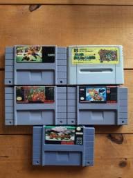 Lote de Jogos de Super Nintendo