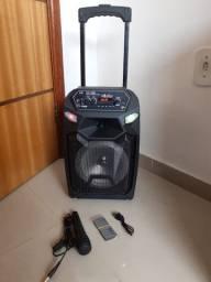 Caixa de som 2000watts +controle + microfone(pronta entrega)