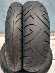 Par de pneu Pirelli 140/110 cb300 fazer250 Twister cb500 comet
