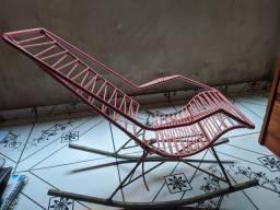 Cadeira de balanço Infantil rosa
