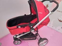 3em 1- Carrinho Kiddo 3 rodas + base e bebê conforto