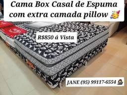 Título do anúncio: CAMA BOX CASAL DE ESPUMA