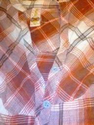 Camisa feminina xadrez