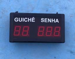 Painel Eletrônico de Guichê Senha 5 Dígitos.