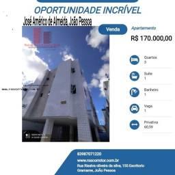 Título do anúncio: Apartamento para Venda em João Pessoa, José Américo de Almeida, 3 dormitórios, 1 suíte, 1