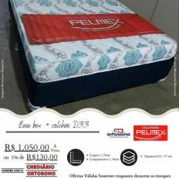 Título do anúncio: CAMA BASE BOX +COLCHÃO D33- PELMEX - *ENTREGA GRÁTIS*