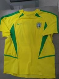 Camisa Nike Seleção Brasileira Brasil 2002 Penta