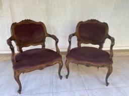 Cadeiras antigo modelo francês