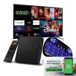 Título do anúncio: Aparelho Cine Converta Sua Tv Android Smart Tv 4k Box Pro S