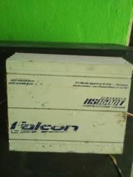 Caixa de som trio com módulo Falcon 1500w 3 canais