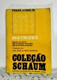 Livro: Matrizes Coleção Schaum - Frank Ayres Jr