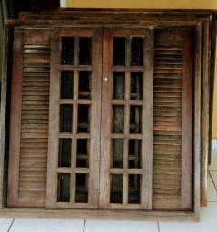 5 janelas imbuía com persianas