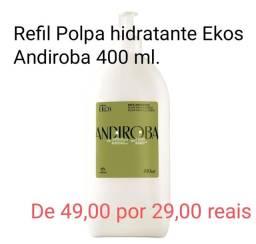 Refil Polpa hidratante Ekos Andiroba  400g de 49,00 por 29,00 reais