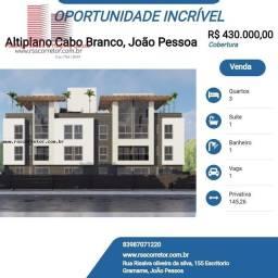 Título do anúncio: Cobertura para Venda em João Pessoa, Altiplano Cabo Branco, 3 dormitórios, 1 suíte, 1 banh