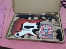 Guitarra ps3 com jogo