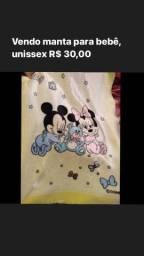 Vendo manta para bebê