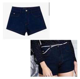 Shorts jeans cintura baixa
