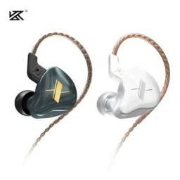 Fone de ouvido/monitor KZ EDX com microfone