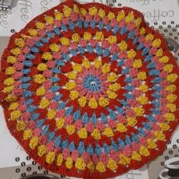 Título do anúncio: Sousplat em crochê colorido