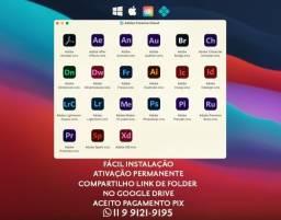 Título do anúncio: Adobe Photoshop, Premiere, After Effects + macOS/Windows