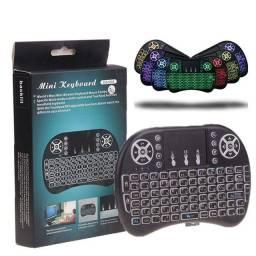 Controle remoto com led joystick mouse e teclado TV computador box