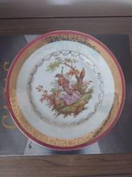 Prato decorativo porcelana real
