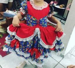 Vestido festinha junina infantil