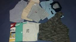 Lote roupa menino tamanho 6