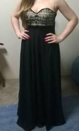 Título do anúncio: Vestido De Festa Preto Com Pedrarias
