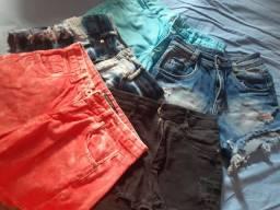 5 shorts por 80.00