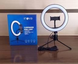 Compartilhe nas redes sociais iluminador ring light inova