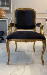 Cadeira de jantar estilo Luís XV
