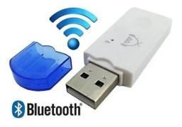 Receptor Usb Bluetooth Adaptador Pendrive Musica pra Carro
