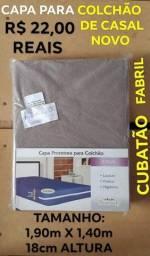 22,00 reais novo capa de colchão de casal novo_ última peça/ chama no Whatsapp