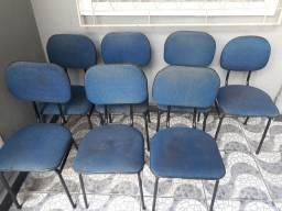 Lote cadeiras fixas escritório ou home office
