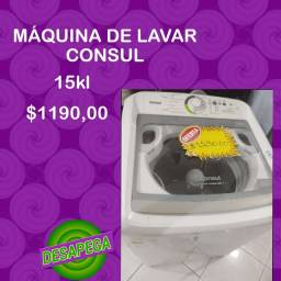 Máquina de lavar cônsul top 15Kl