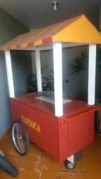 Carrinho para vender tapioca/hot dog