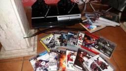 Vendo PS3 com 17 jogos .Leia a descrição.