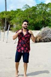 Camisa Flórida Pano viscose confortável