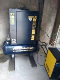 Compressor de parafusso 15 hp metalplan com secador