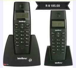 Telefone sem fio intelbras ts40c com ramal e id