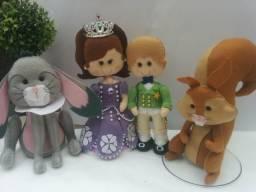 Princesa Sophia e amigos em feltro!!!