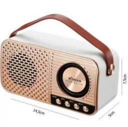 Caixa de Som Retro Xtrad Bluetooth Tf Usb Fm Ws-3138 -Mega Infotech