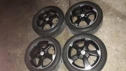 Rodas 15 zeradas 2 pneus zero 195/50