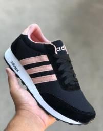 Tênis Adidas Preto e Rosa (Frete Gratis)