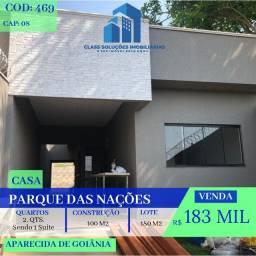 Casa De 2 Quartos - Parque das Nações - Aparecida de Goiânia-GO