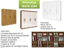 9647//83304 Wpp-Guarda-Roupa 6 portas Leblon